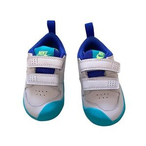 Nike Pico 5 toddler shoes white and blue 5C